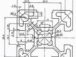 Алюминиевый станочный профиль 40х40 мм ГОСТ 22233-93