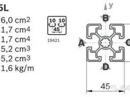 Алюминиевый станочный профиль 45x45 мм АД31 Т5