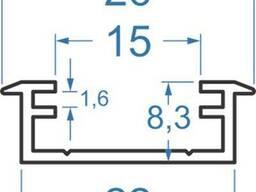 Алюминиевый светодиодный профиль 26х8