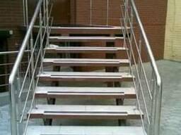 Алюминиевые накладки на ступени