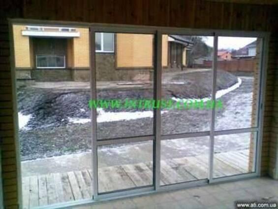 Алюминиевые раздвижные двери перегородки