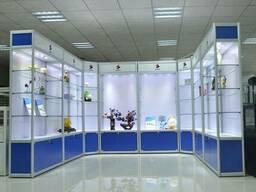 Алюминиевые стеклянные витрины и прилавки