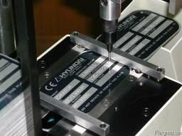 Алюминивые шильды на самоклейке с технической выбивкой номер