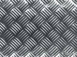 Лист рифленный нержавеющий 304 2, 0 (1, 0х2, 0)