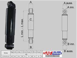 Амортизатор оси САФ . 34x53 Fi20/20 SAF. Новый.