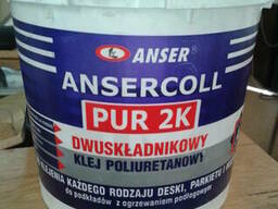 Ansercoll PUR 2K Двухкомпонентный паркетный клей 6. 21 кг.