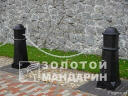 Антипарк. стовп Октаедр черный - фото 1