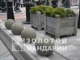 Антипарковочні Сфери на подставке 600х400 прес серый