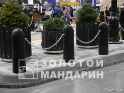 Антипарковочний стовп Класичний черный - фото 2
