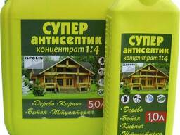 Антисептик для дерева и бетона концентрат 1:4 ТМ Ispolin