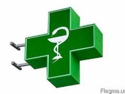 Аптечные кресты акриловые, светодиодные.
