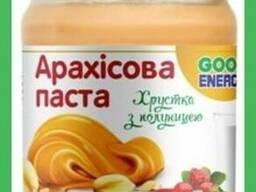 Арахисовая паста хрустящая с клубникой 180 гр (250 гр)