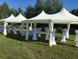 Аренда белых, кремовых шатров для праздничных фуршетов