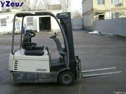 Аренда электрический вилочный погрузчик б/у Crown SC4240-1.6
