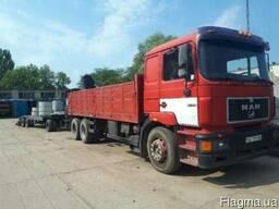 Аренда грузового транспорта с кран-манипулятором MAN