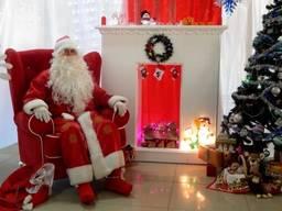 Прокат трона для Санта Клауса, аренда красного кресла для Санты