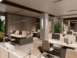 Аренда офиса 1905 кв. м open space в Новом БЦ на Столярова