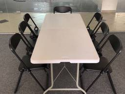 Аренда складной стул, мобильный стол