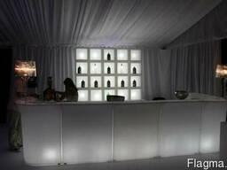 Аренда Светящаяся светодиодная LED барная стойка
