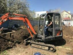 Аренда, услуги мини экскаватора в Одессе