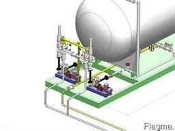 Арматура и оборудование для обвязки газопроводов и резервуар