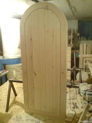 Арочные деревянные двери коробка