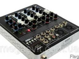 Аудио микшер Mixer BT-4000 4ch. BT (микшерный пульт)