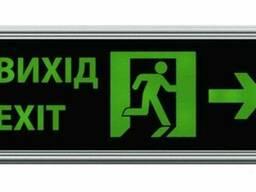 """Аварийный указатель Feron """"Выход"""" EL55 зелёный со. .."""