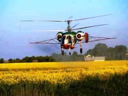 Авіавнесення засобів захисту рослин гвинтокрилом і літаком