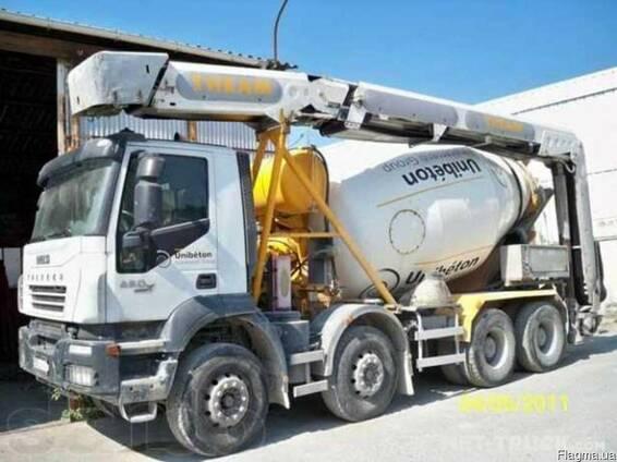 Автобетоносмеситель с лентой подачи бетона купить в заливка площадок бетоном москва