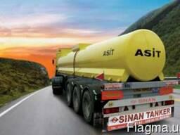 Автоцистерна для перевозки кислот SINAN