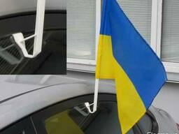 Автофлаг Украины, автофлаги Киев, флаг на авто