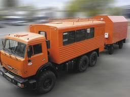 Автофургон ФПВ-26608 на базе шасси КАМАЗ с прицепом ГКБ-819