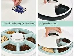 Автоматическая кормушка для собак и котов электронная Pet Feeder, 30x7 см, 6 порций по. ..
