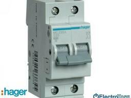 Автоматический выключатель 2p 6kA C-20A 2M Hager (Хагер)