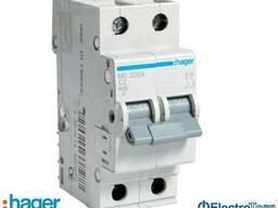 Автоматический выключатель 2p 6kA C-2A 2M Hager (Хагер) - фото 1