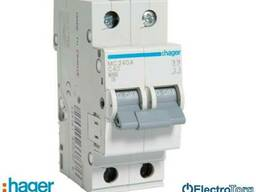 Автоматический выключатель 2p 6kA C-40A 2M Hager (Хагер) - фото 1