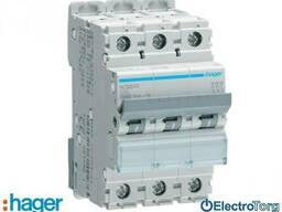 Автоматический выключатель 3p 10kA C-40A 3M Hager (Хагер)