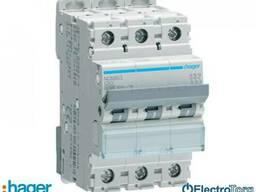 Автоматический выключатель 3p 10kA C-63A 3M Hager (Хагер) - фото 1