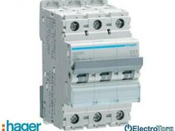 Автоматический выключатель 3p 10kA D-63A 3M Hager (Хагер)