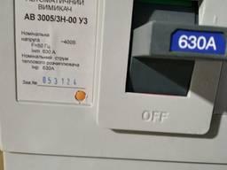 Автоматический выключатель АВ3005/3Н 3р 630А
