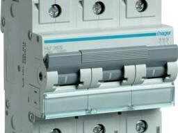 Автоматический выключатель Hager 3-полюсный 125А HLF399S