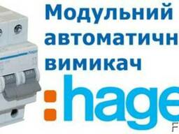 Автоматичний вимикач 1P N 6kA B-6A 2M, Hager MB506A