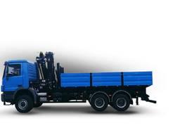 Автомобіль бортовий вантажний з краном маніпулятором HIAB
