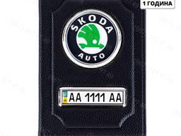 Автомобильная обложка для документов, прав с номером авто