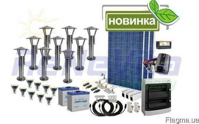 Автономное ландшафтное освещение на солнечных батареях
