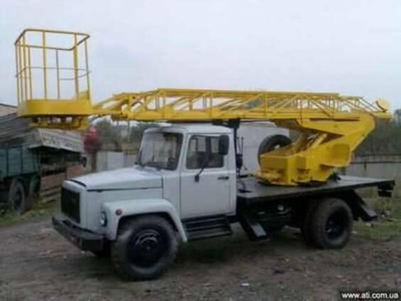 Автовышка АП 17, на базе ГАЗ 3307