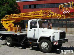 Автовышка Харьков заказать АП-17, высота подъема 17 метров - фото 1