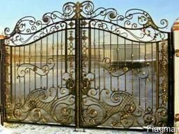 Ажурные кованые ворота Одесса