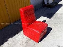 Б/у кресла для кафе бара из кожзама (красный) 50шт Киев